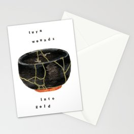 Kintsugi Turn Wounds Into Gold Stationery Cards