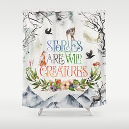 Stories Shower Curtain