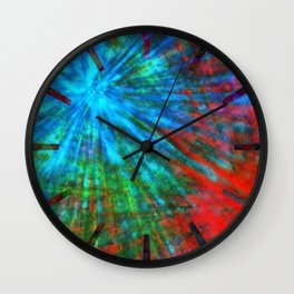 Abstract Big Bangs 001 Wall Clock