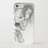 eddie vedder iPhone & iPod Cases featuring Eddie Vedder Sketch by Taylor Hayes