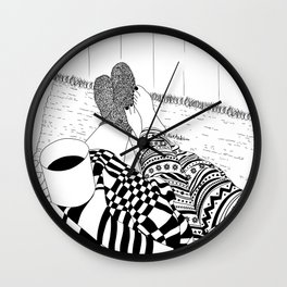 Cozy Night Wall Clock