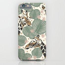 Modern Giraffe Print, Tropical Print iPhone Case