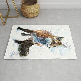 Fox watercolor Rug