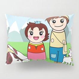 Kokeshis Heidi and Peter Pillow Sham