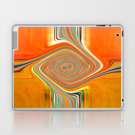 Abstract.Orange+Lemon. Laptop & iPad Skin