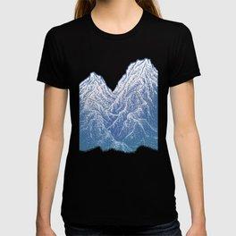 """遠望 series -""""Valley"""" - Linocut T-shirt"""