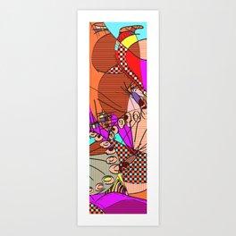 Colorful Shapes 2 Art Print