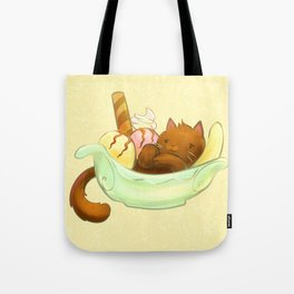 Banana split Cat Tote Bag