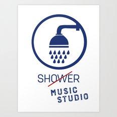 Music Studio Art Print