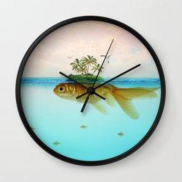 Goldfish Island II Wall Clock