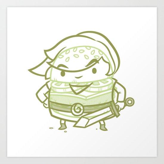 Cheeseburger Link Art Print