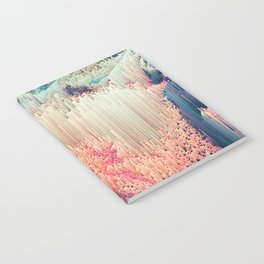 Fairyland - Abstract Glitchy Pixel Art Notebook