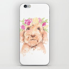 golden doodle watercolor iPhone Skin