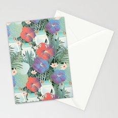 frog garden Stationery Cards