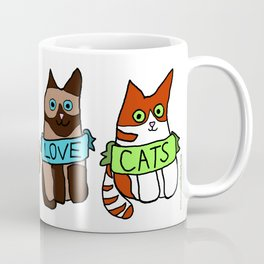 Crazy cat man club coffee mug Coffee Mug