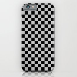 Black and Gray Checkerboard iPhone Case