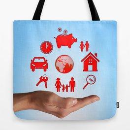 Life values Tote Bag
