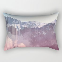 Glitched Mountains Rectangular Pillow