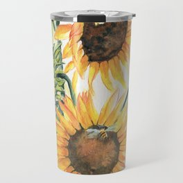 Sunny Sunflowers Travel Mug