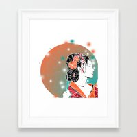 geisha Framed Art Prints featuring GEISHA by ARCHIGRAF