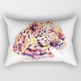Leopard Head Rectangular Pillow