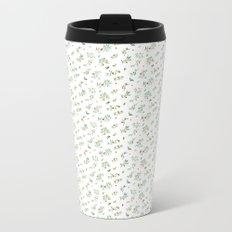 orange - subtle pattern Metal Travel Mug