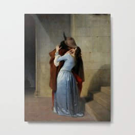 The Kiss (Il Bacio) - Francesco Hayez 1859 Metal Print