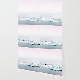 Beautiful glacier lagoon winter Wallpaper