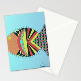 the tamborin fish or puffer fish Stationery Cards