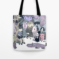 scandinavian Tote Bags featuring Scandinavian Folklore by Hayley Dawn Muir