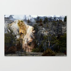Mammoth Hot Springs-Yellowstone Canvas Print