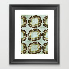 Gold & Green Framed Art Print