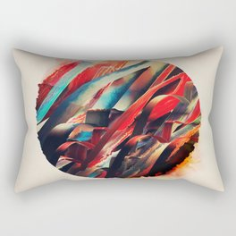 64 Watercolored Lines Rectangular Pillow