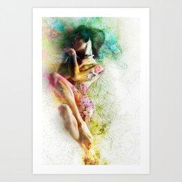 Self-Loving Embrace Art Print
