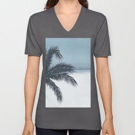 Palm and Ocean Unisex V-Ausschnitt