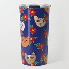 Retro Kitty Cats Travel Mug