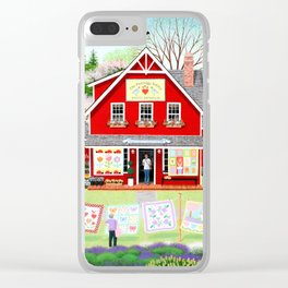 Springtime Wishes Clear iPhone Case