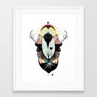 santa Framed Art Prints featuring SANTA by Alba Blázquez