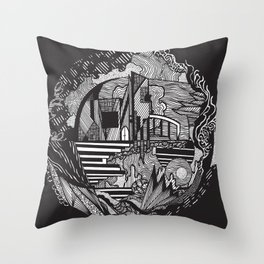 Space Catherdral Throw Pillow