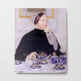 Mary Cassatt - Lady at the Tea Table Metal Print