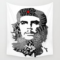 che Wall Tapestries featuring CHE by Rebecca Bear