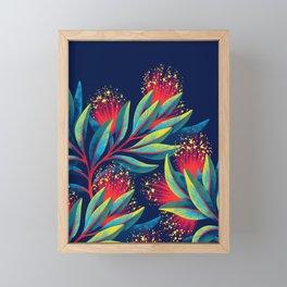 Pohutukawa - Red / Green Framed Mini Art Print