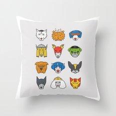 Super Dogs Throw Pillow