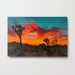 Sunset Desert (Color) Metal Print