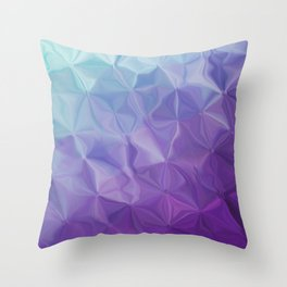 Abstract painting color texture Throw Pillow