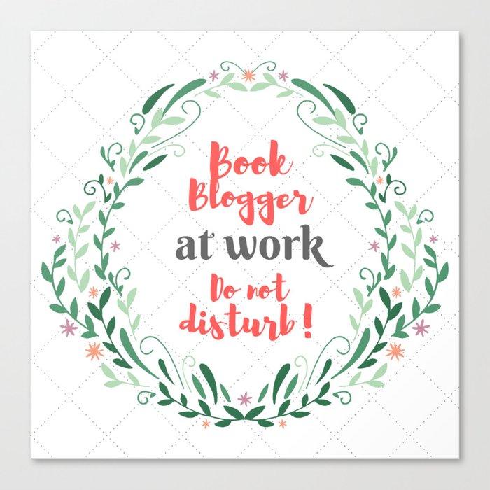 Book Blogger at work. Canvas Print