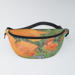 Poppies and Butterflies Fanny Pack