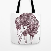 sheep Tote Bags featuring Sheep by Monique Turchan