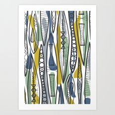 Mid-Century Shapes Art Print