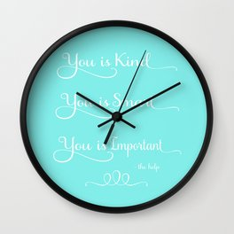 You is Kind - Mint Blue Wall Clock